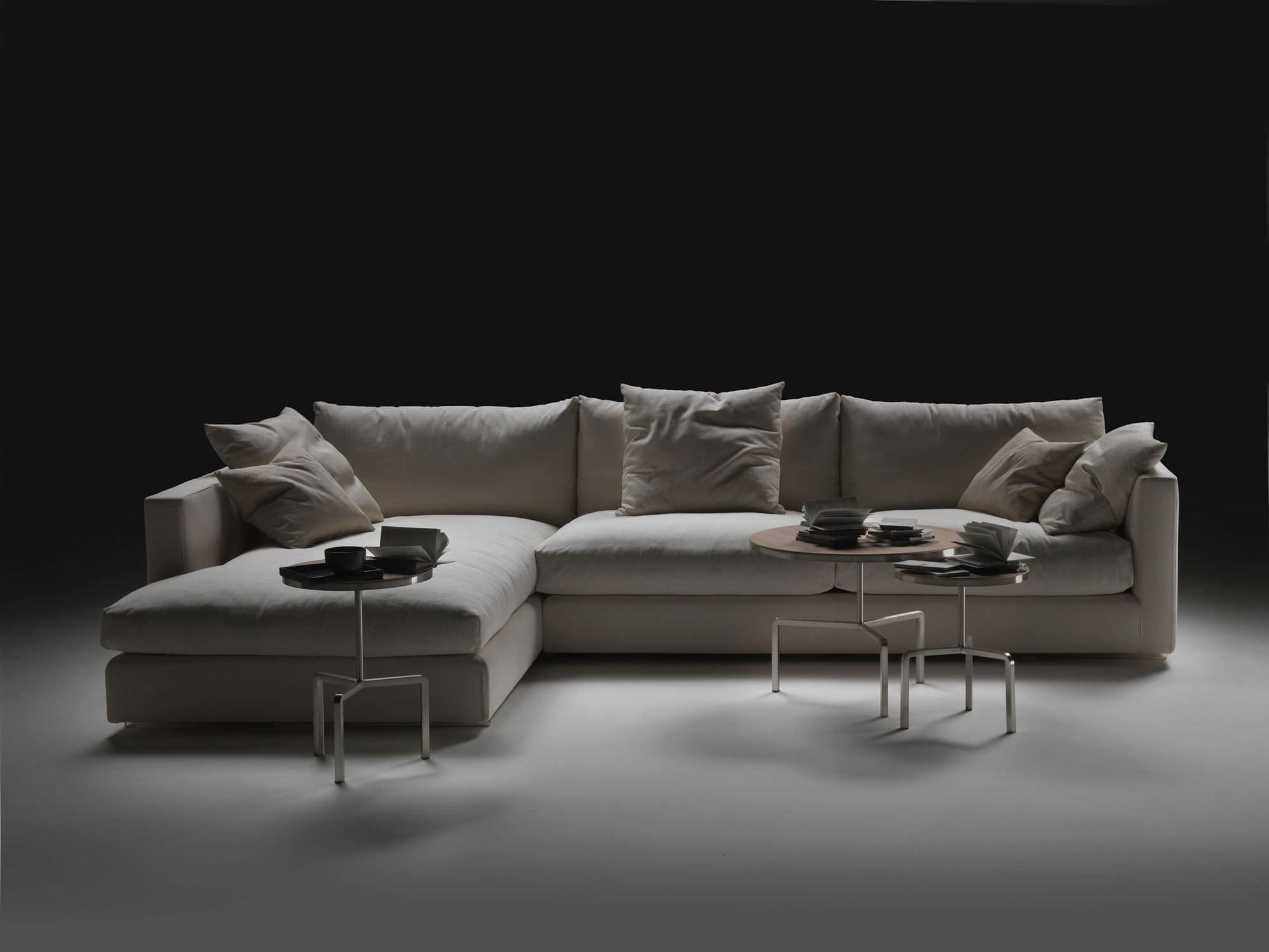Modular sofa contemporary leather fabric MAGNUM FLEXFORM