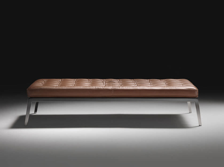 Wonderful Contemporary upholstered bench / fabric / leather / metal - MAGI  VG81