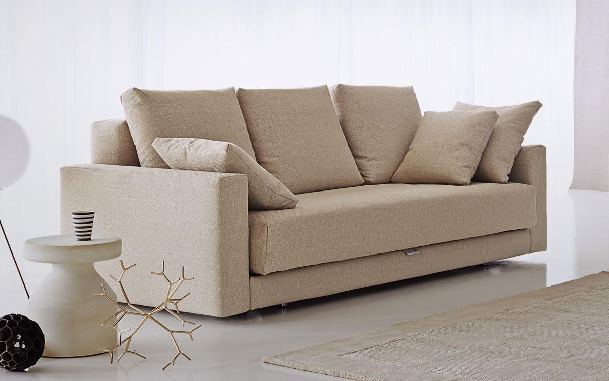 Divano Letto Flou Piazza Duomo.Sofa Bed Contemporary Fabric 3 Seater Piazzaduomo By