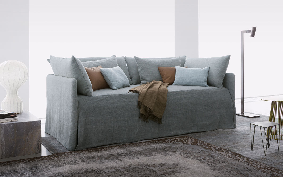 Divano Letto Singolo Flou.Pull Out Bed Duetto Flou Single Contemporary With Drawer