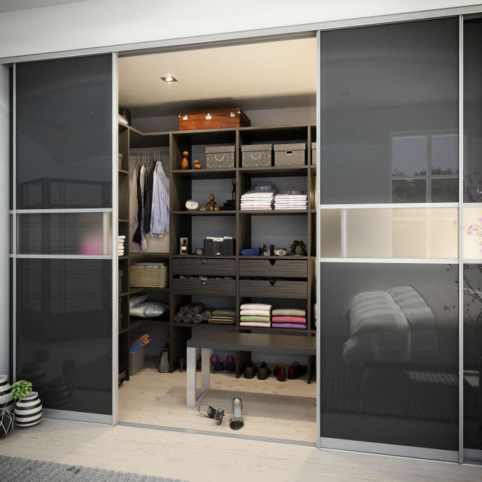 check out 6556a edb50 Contemporary walk-in wardrobe / wooden / with sliding door ...