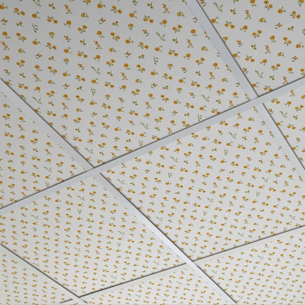 Cardboard Suspended Ceiling Tile Decorative Printed