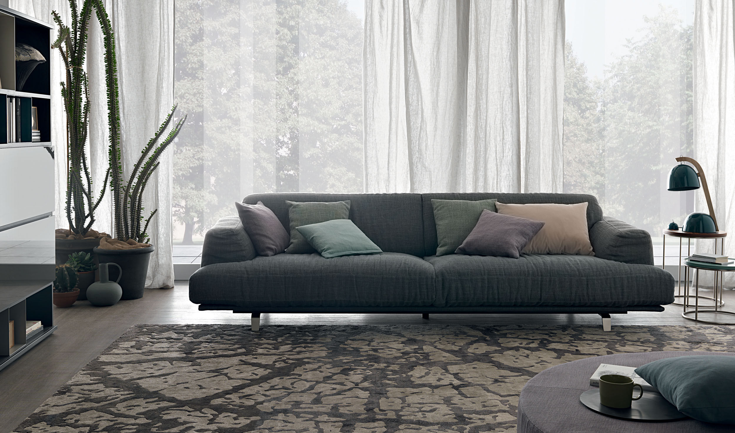 Contemporary sofa fabric metal by Mauro Lipparini MADISON