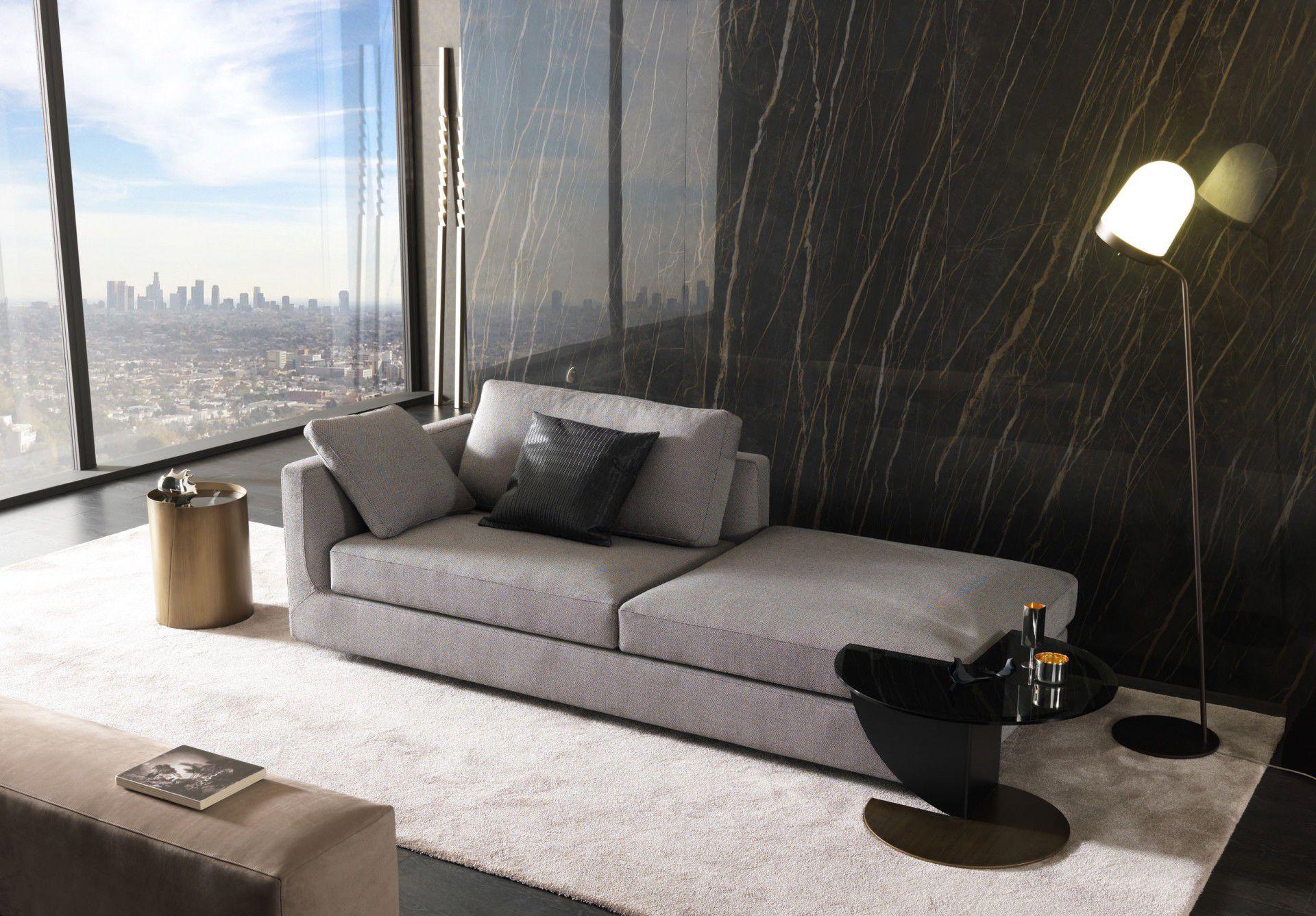 Modular sofa / contemporary / fabric / leather - PHOENIX ...