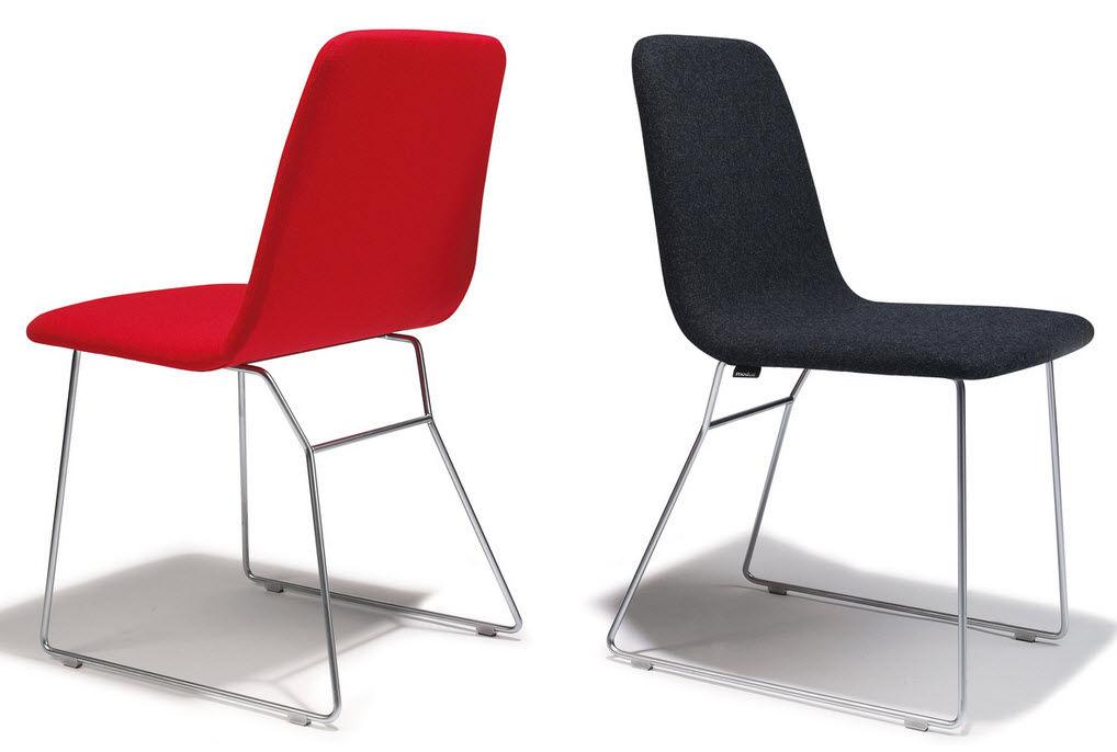 Perfect Contemporary dining chair / sled base / steel - MULTI by Michael  BZ59