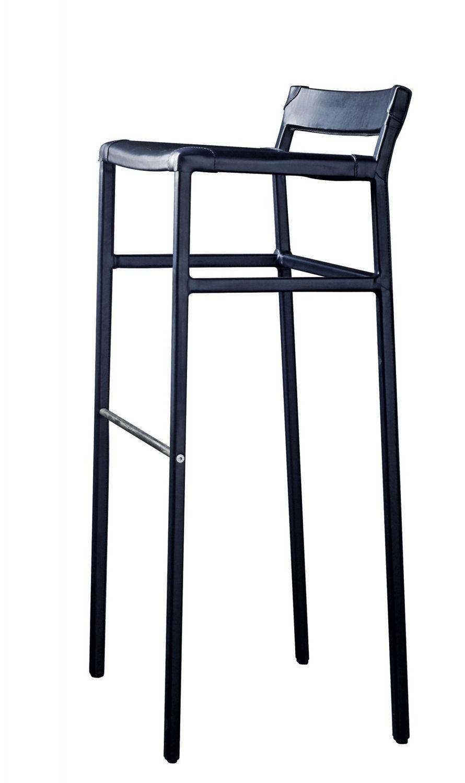 Brilliant Contemporary Bar Stool Leather Metal Commercial Creativecarmelina Interior Chair Design Creativecarmelinacom