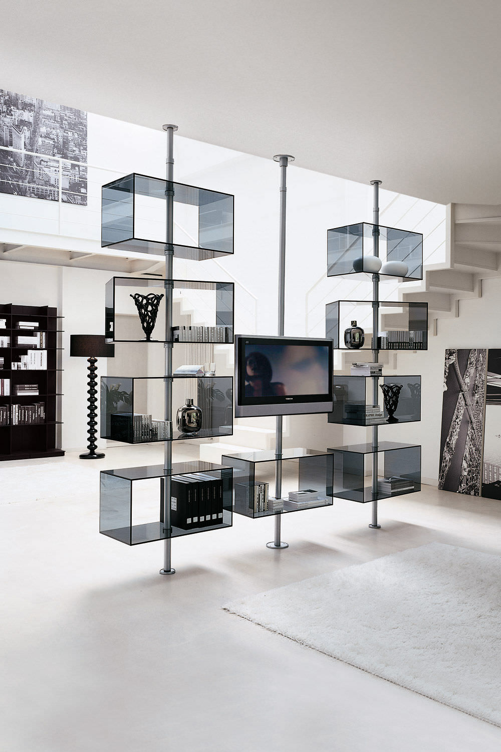 Contemporary Tv Stand Metal Domino By T Colzani