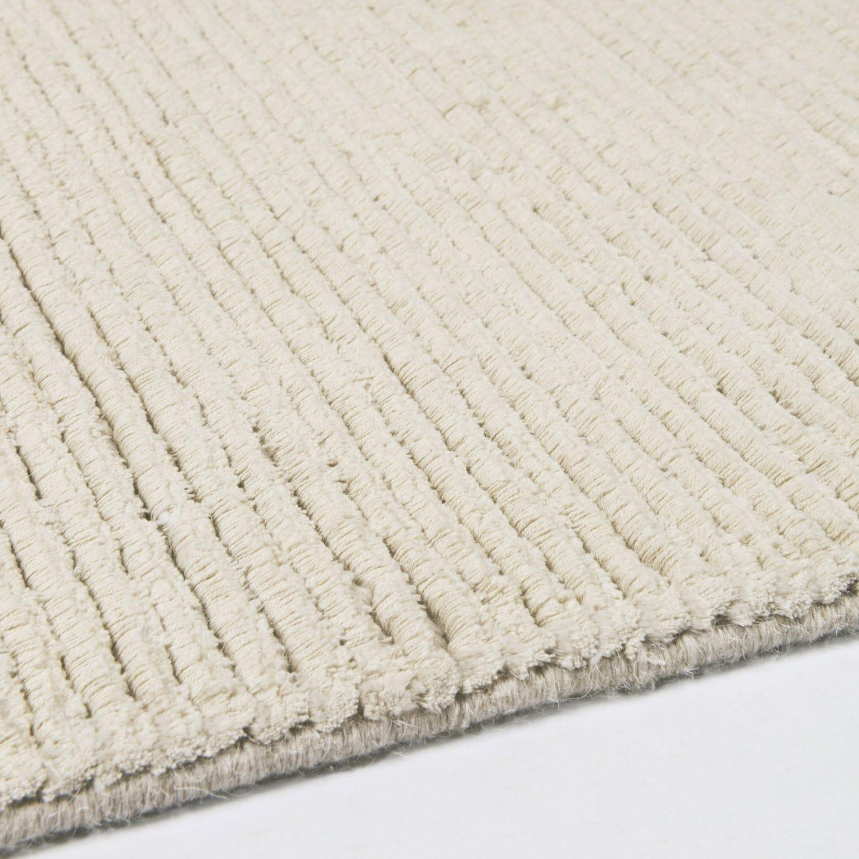 Contemporary Rug Plain Wool Silk Desert Silver By