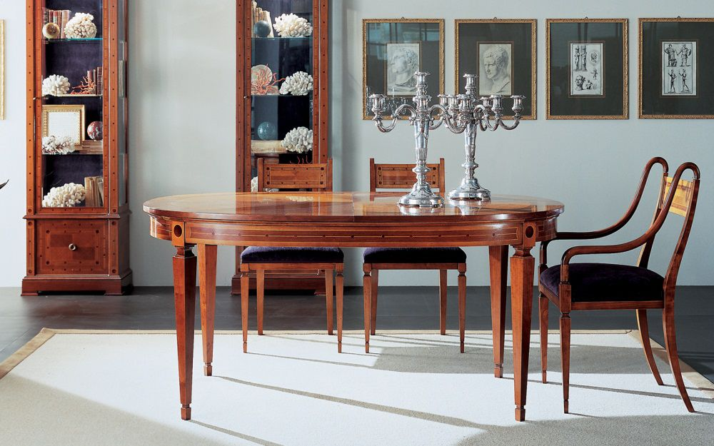 Annibale Colombo Mobili Classici.Traditional Dining Table C1013 Annibale Colombo Cherrywood Oval Extending