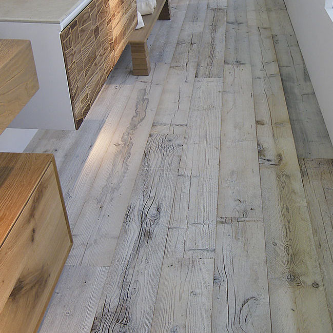 Engineered parquet floor / glued / fir / oiled - PAVPARQ ...