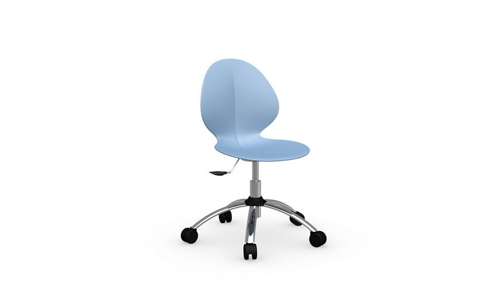 Calligaris Sedia Basil.Contemporary Office Chair On Casters Swivel Adjustable