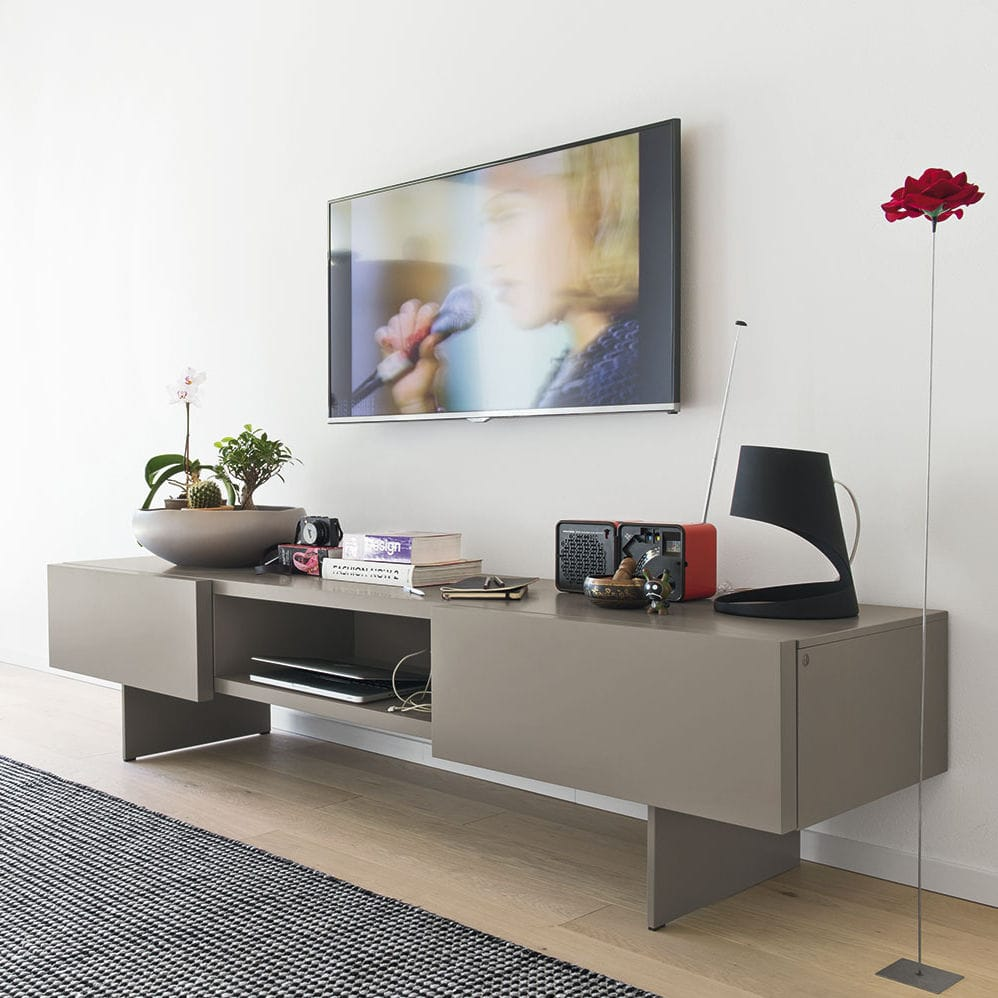 Calligaris Porta Tv.Sipario Contemporary Tv Cabinet Lowboard Wooden Metal By Calligaris Archiexpo