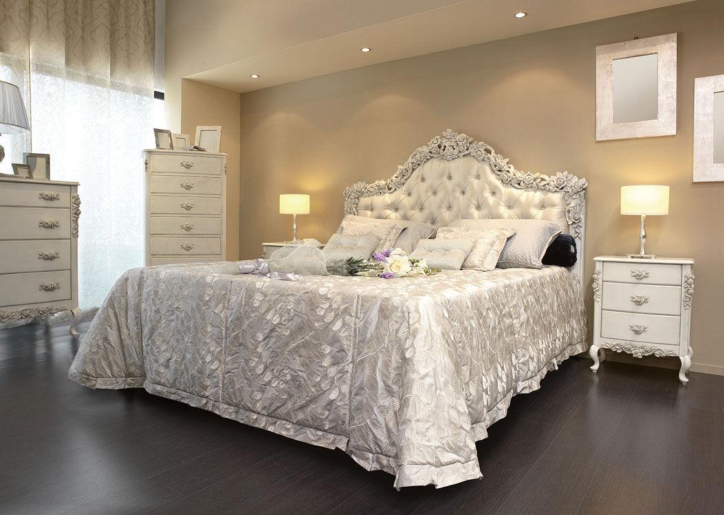 Lit Avec Tete De Lit Matelassé double bed / classic / with upholstered headboard / fabric