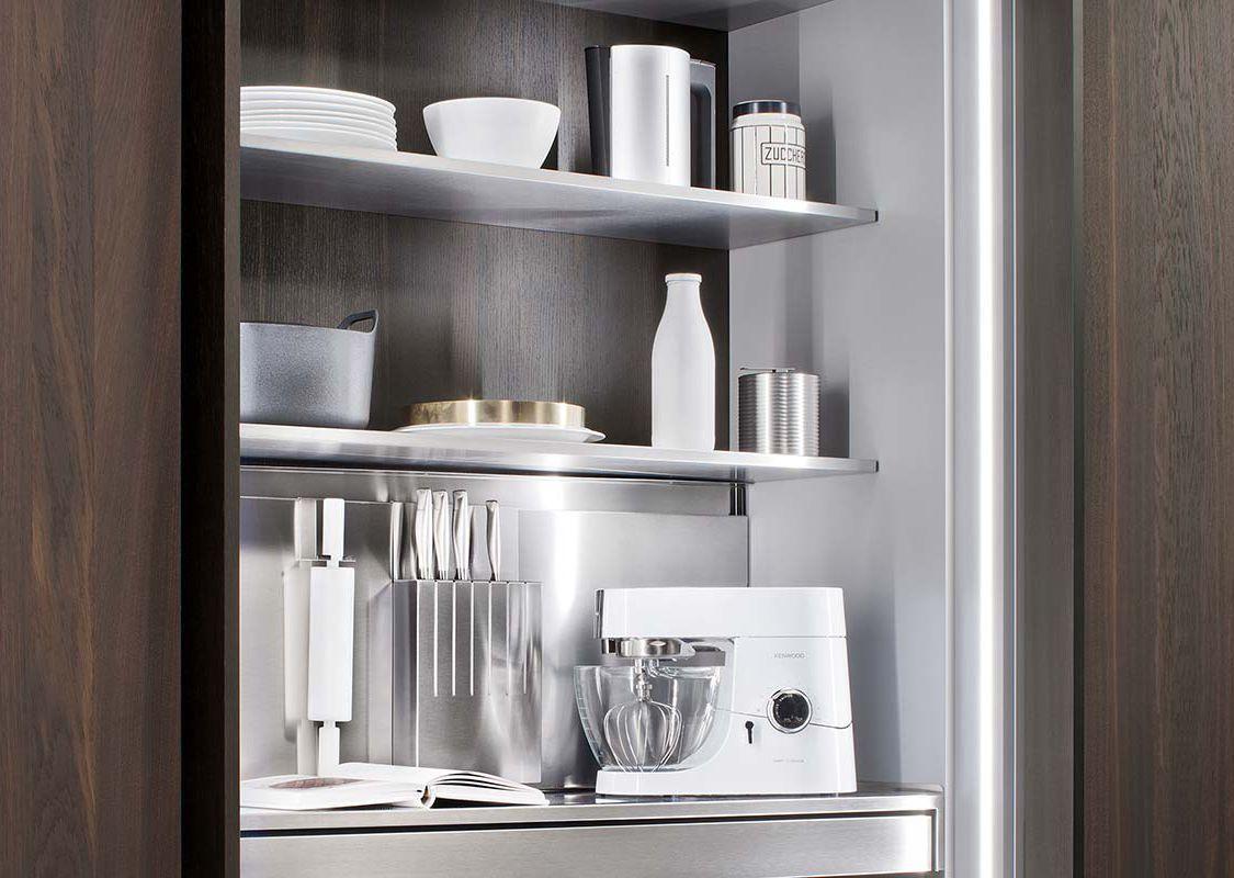 Contemporary storage cabinet for kitchen / wooden - ONE - ERNESTOMEDA