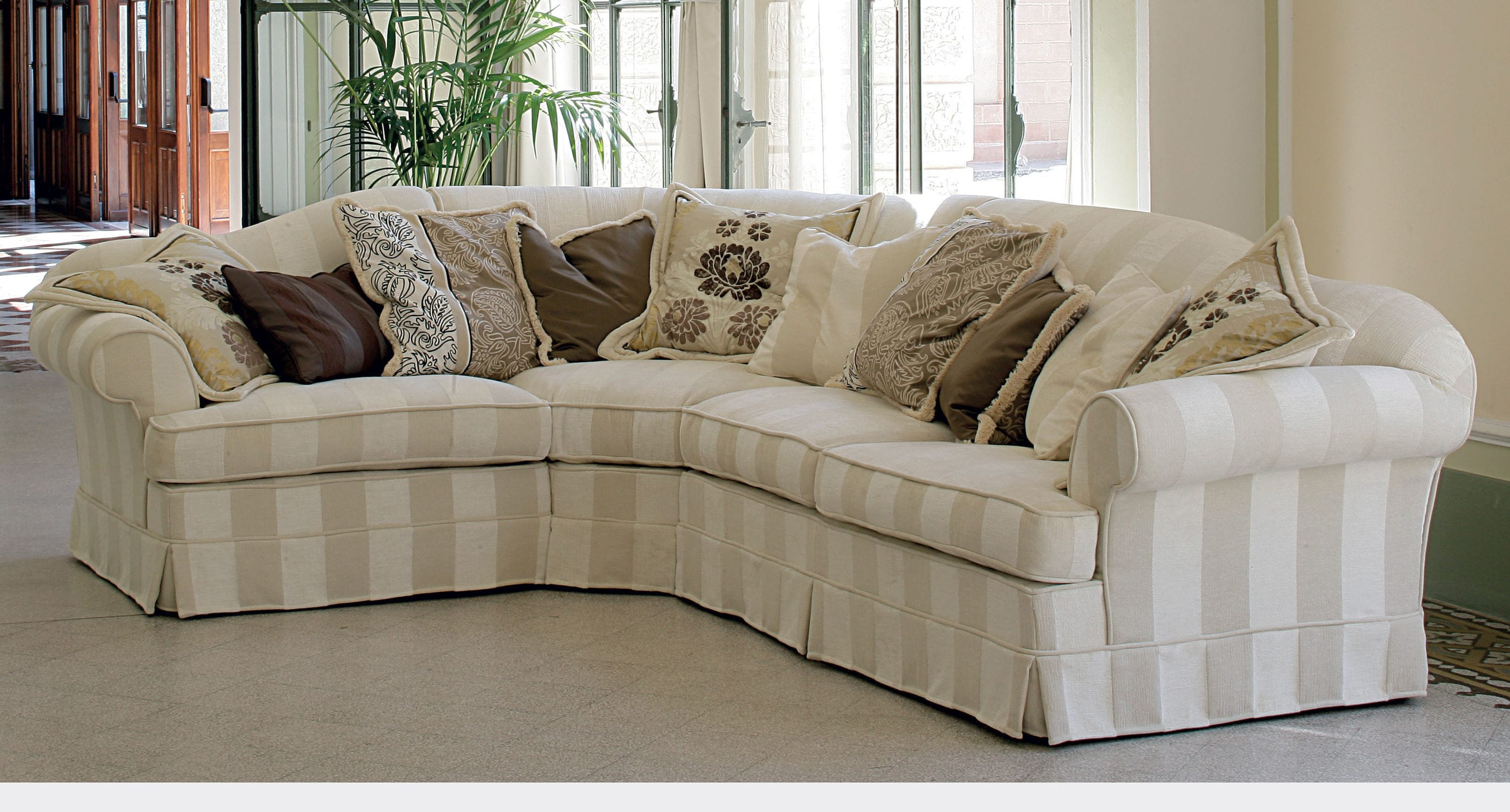 Corner sofa contemporary fabric with removable cover