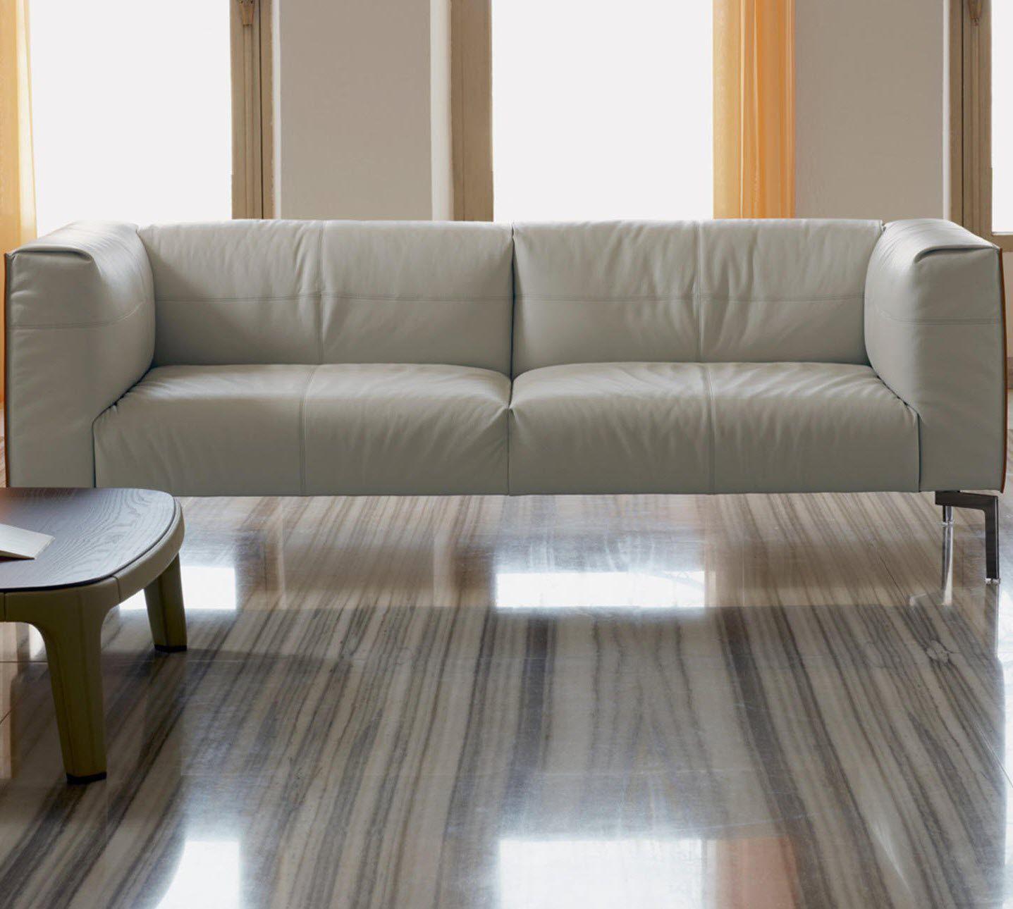 Poltrona Frau Bosforo.Contemporary Sofa Leather Steel By Sezgin Aksu