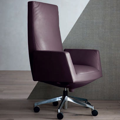 Chancellor Executive Poltrona Frau.Contemporary Executive Chair Leather Steel On Casters