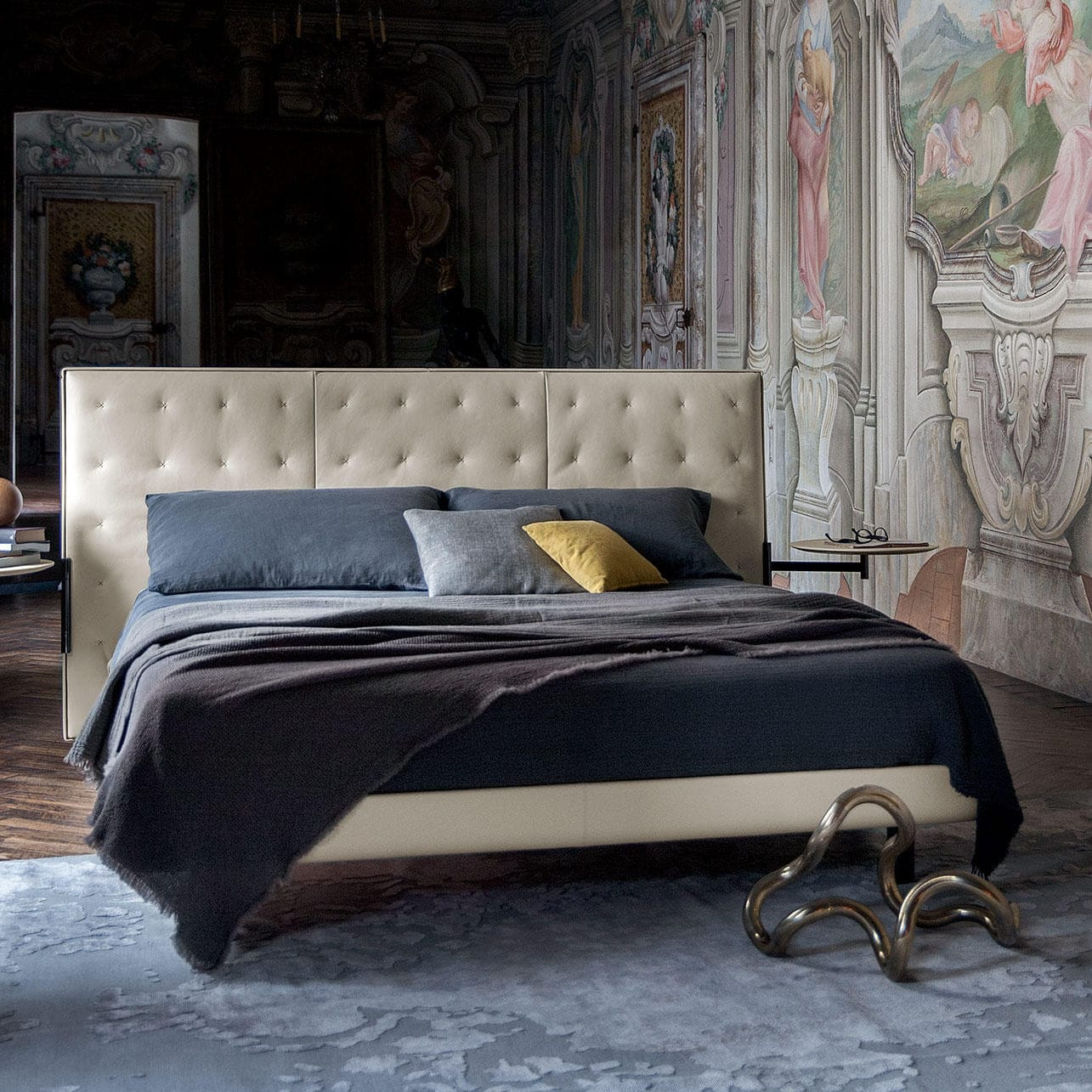 Letto Bluemoon Poltrona Frau.Double Bed Contemporary Upholstered With Headboard Jack