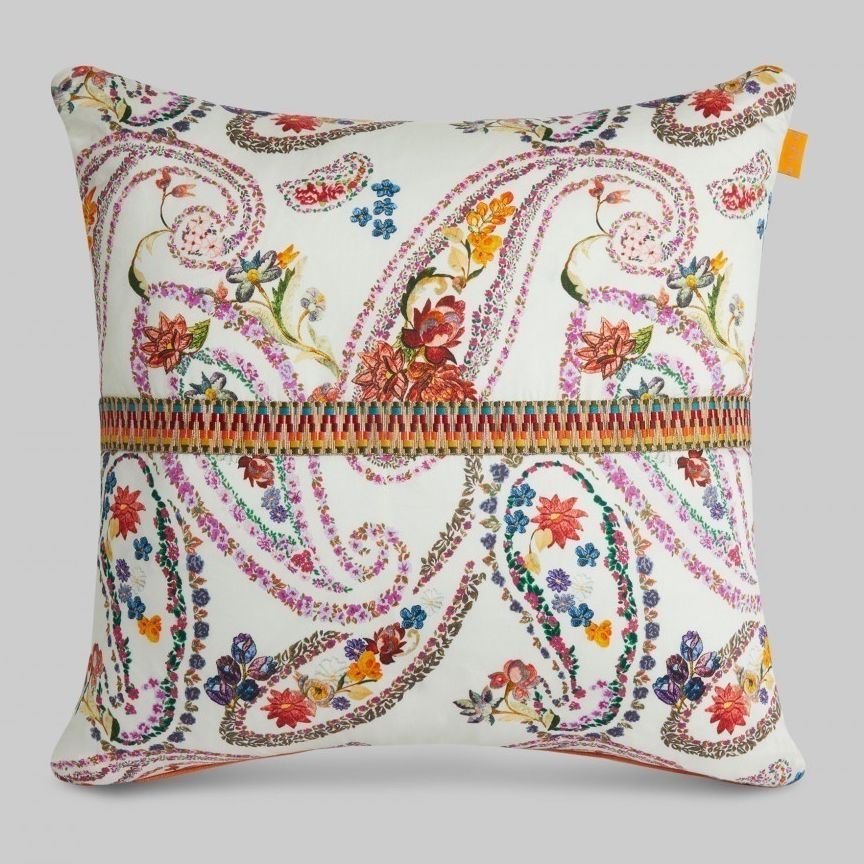 Cuscini Etro.Square Cushion Patterned Floral Cotton 191k4717596210990