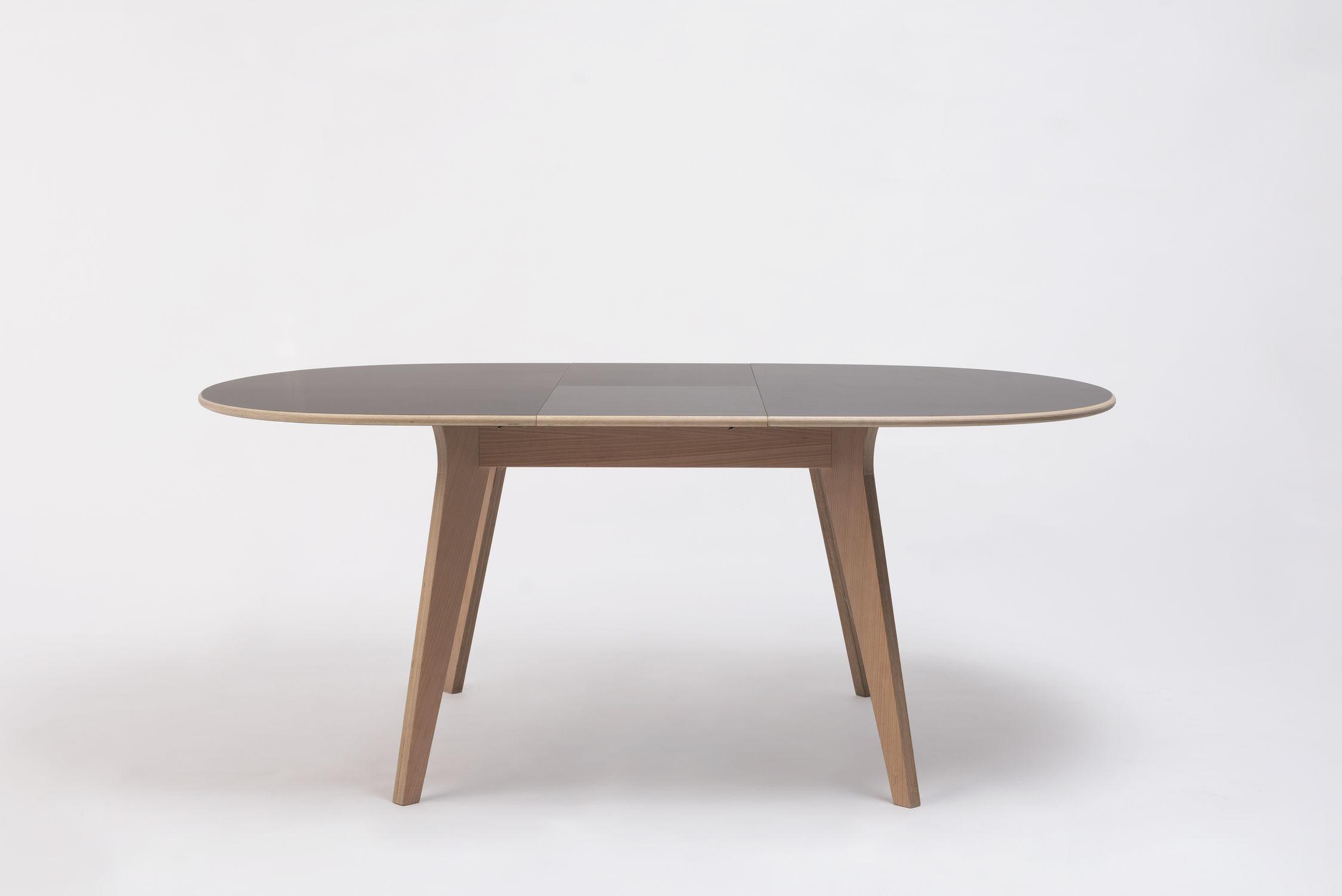 Contemporary Table Birch Plywood Beech Base Mikado Ondarreta