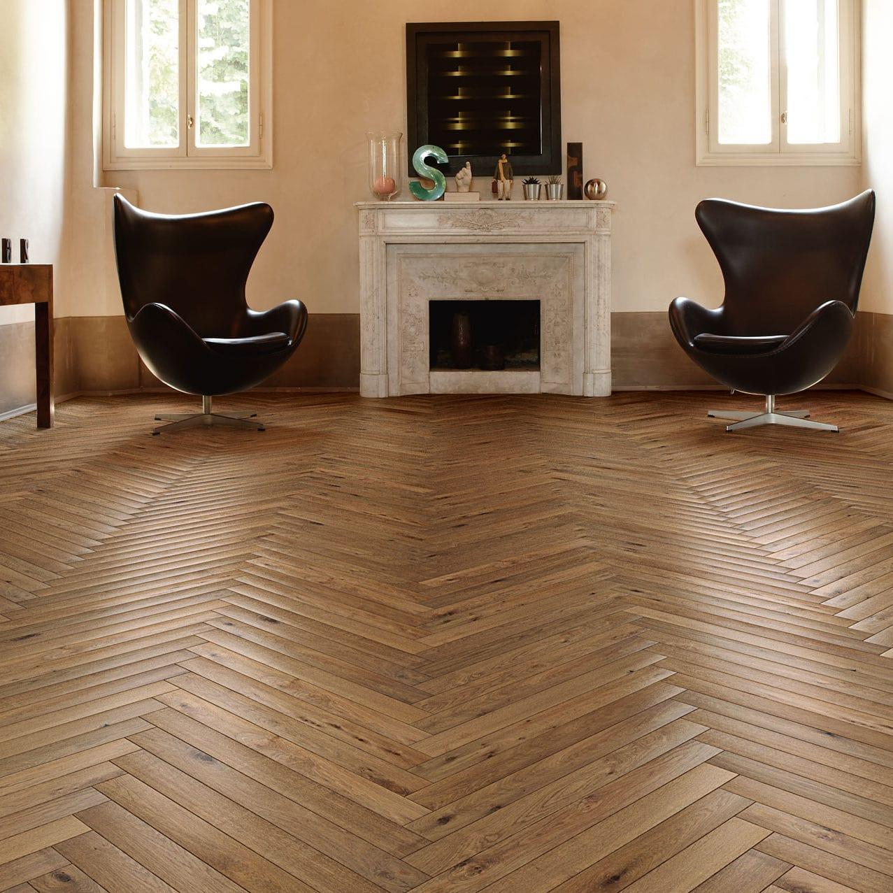 Engineered Parquet Floor Heritage Filigrana Listone Giordano Glued Oak Birch