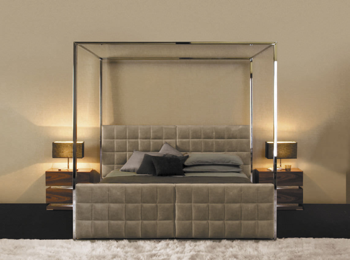 - Canopy Bed - 5250 - Mobilidea - Double / Contemporary / Leather