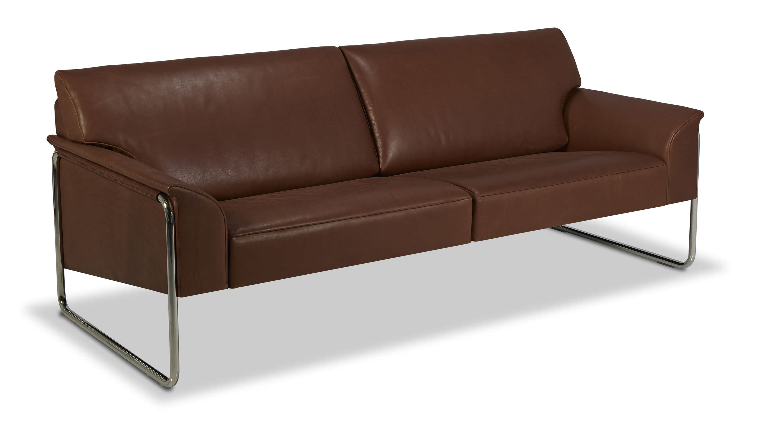 Contemporary sofa leather fabric 3 seater BELLINO by