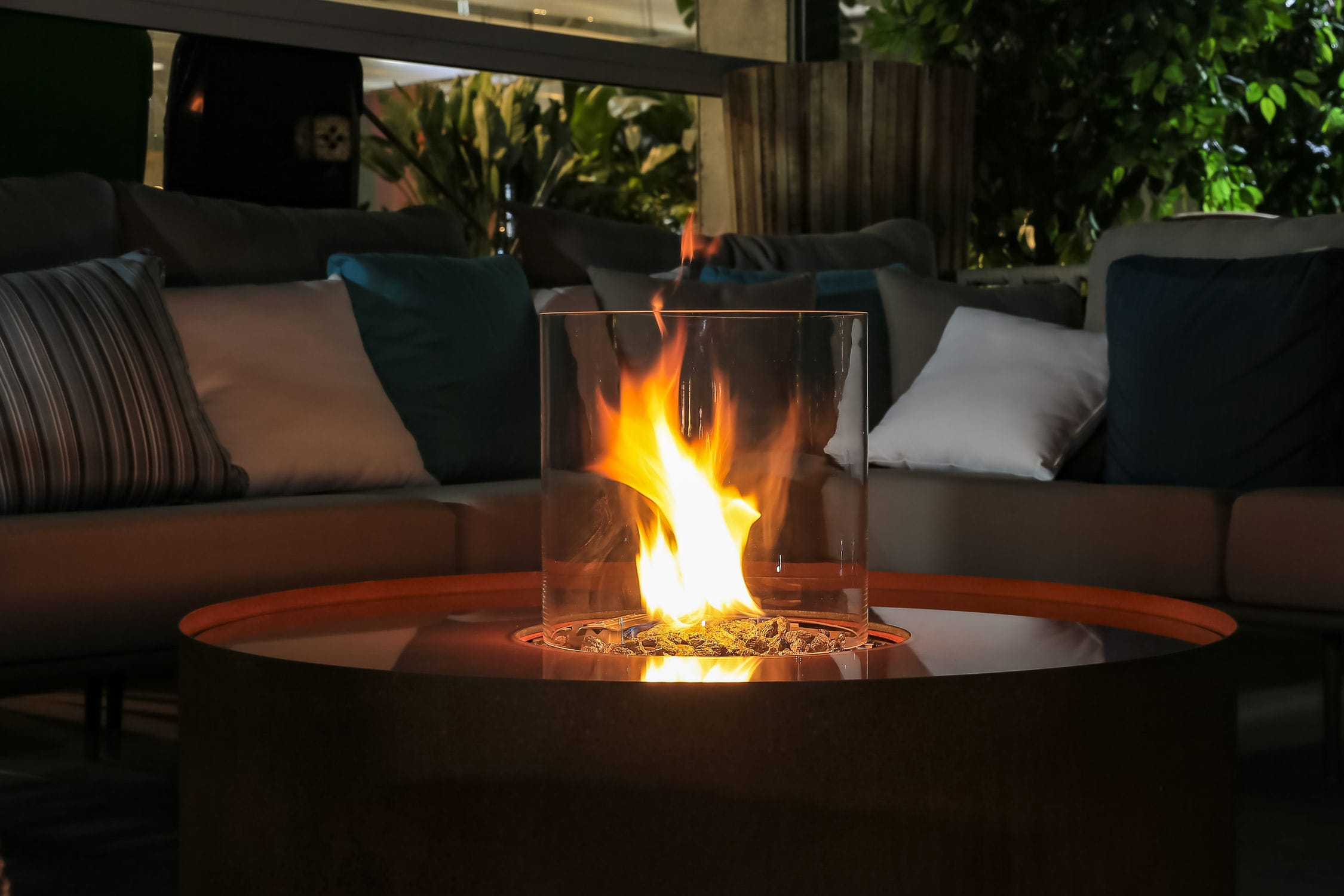 Gas Fire Pit Stainless Steel Cor Ten Steel Contemporary