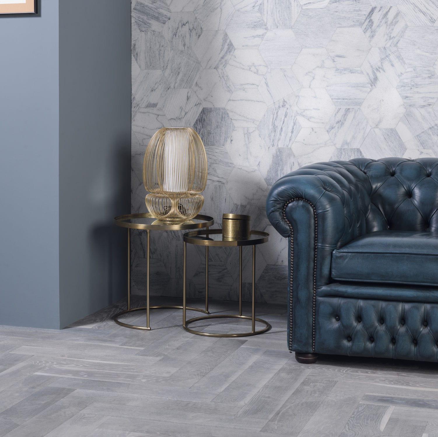 Marble stone slab / matte / cladding / white - AMSTERDAM HEXAGON