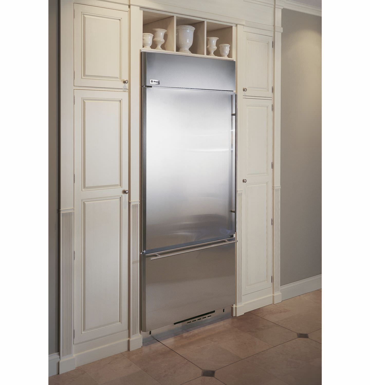 Home Refrigerator Freezer Upright Stainless Steel Energy Efficient