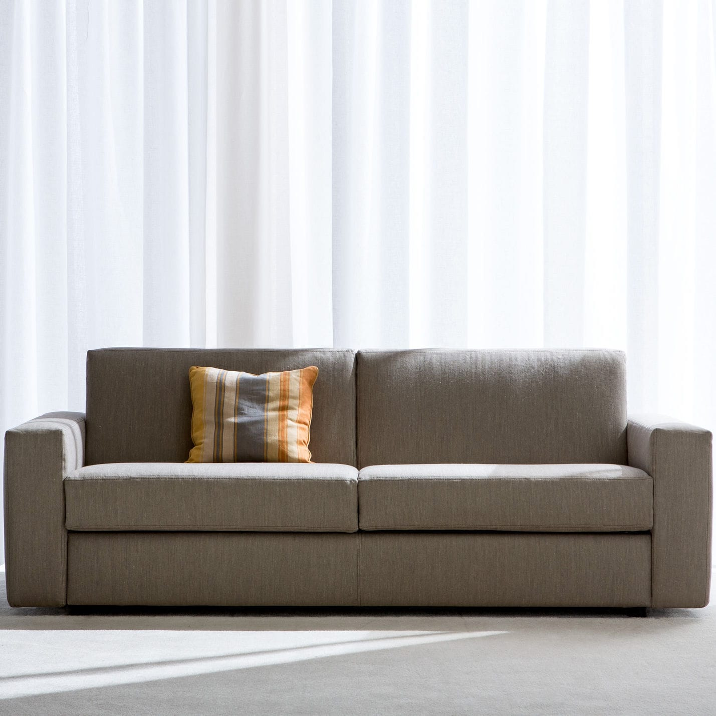 Sofa bed contemporary fabric leather SAN DIEGO CITY