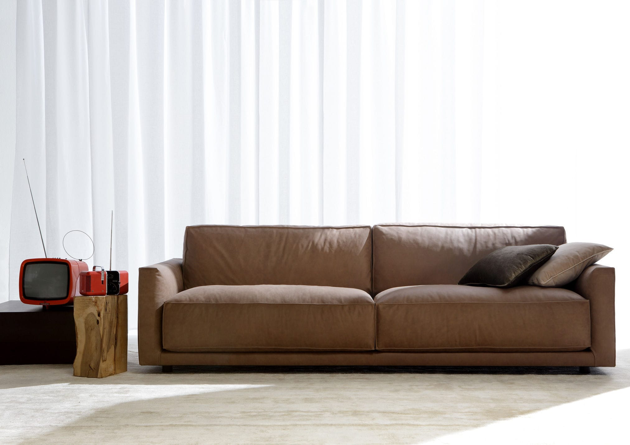 Modular sofa contemporary leather fabric RIBOT BERTO SALOTTI