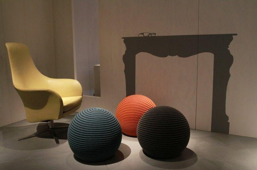 Bank Design Montis.Original Design Pouf Wool Contract Gray Beanie Montis