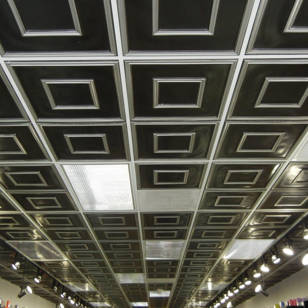 Pvc Suspended Ceiling 208 Decoraids Tile Decorative Flame Retardant