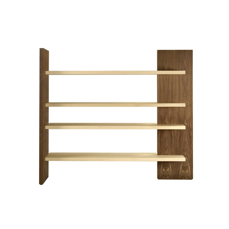 Contemporary Shelf Walnut Maple Cartesia By Franco