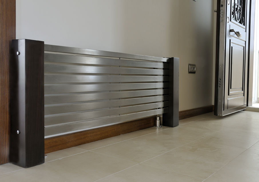 Hot Water Radiator Stainless Steel Contemporary Horizontal