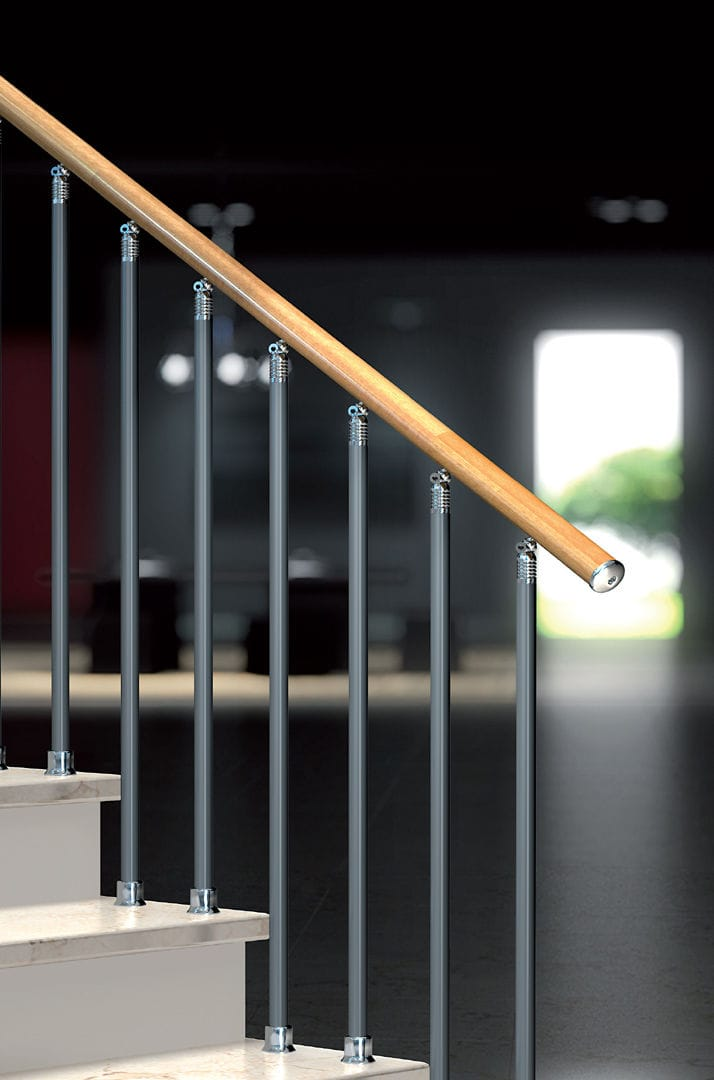 Metal Railing With Bars Indoor For Stairs