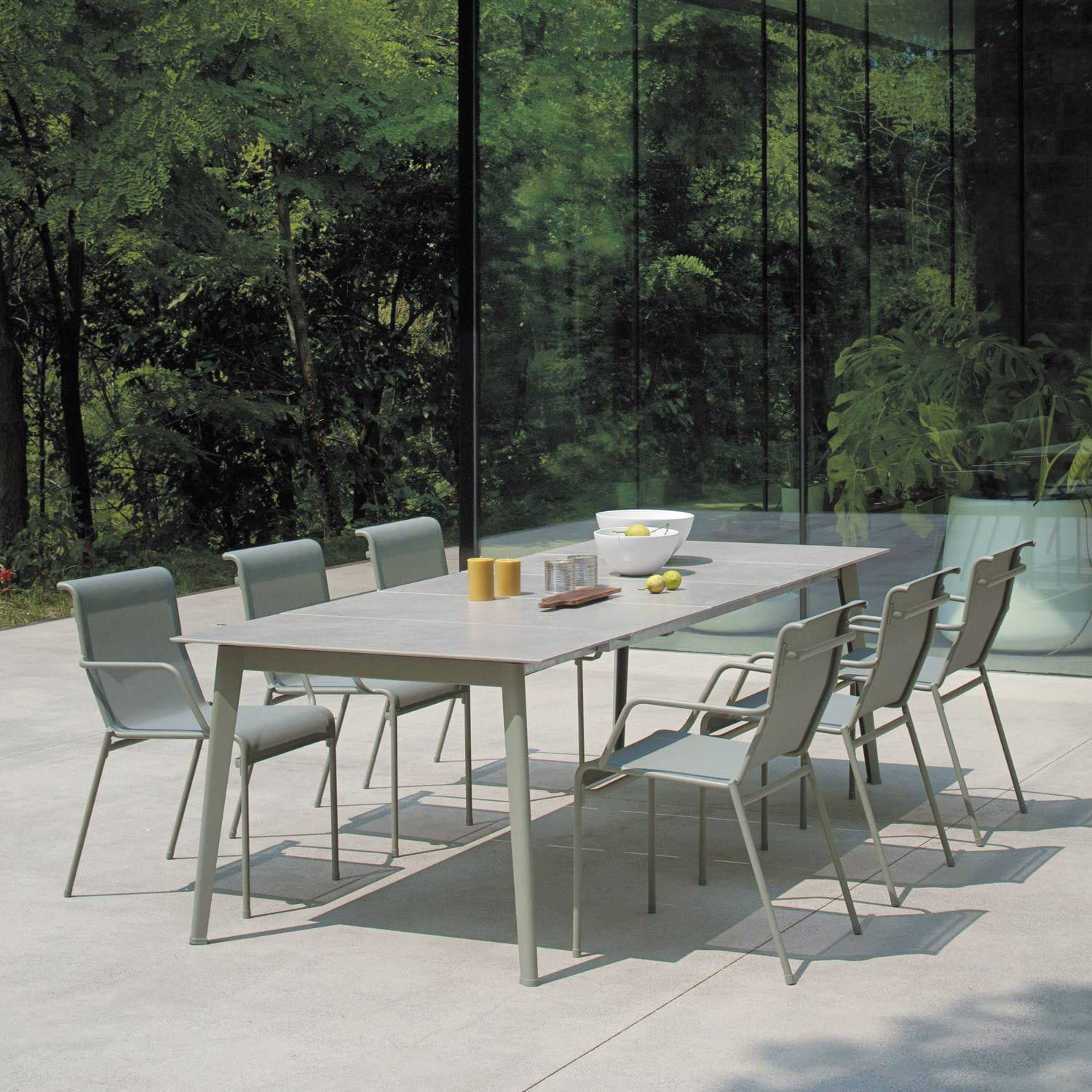 Popular Contemporary table / ceramic / aluminum / rectangular - KIRA - EMU QV28