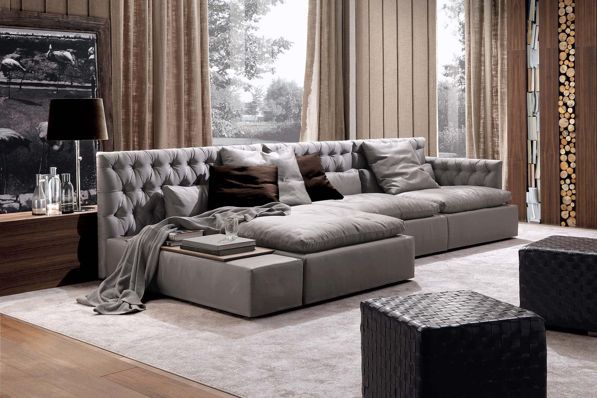 DOMINIO leather fabric contemporary sofa Modular j3LA54R