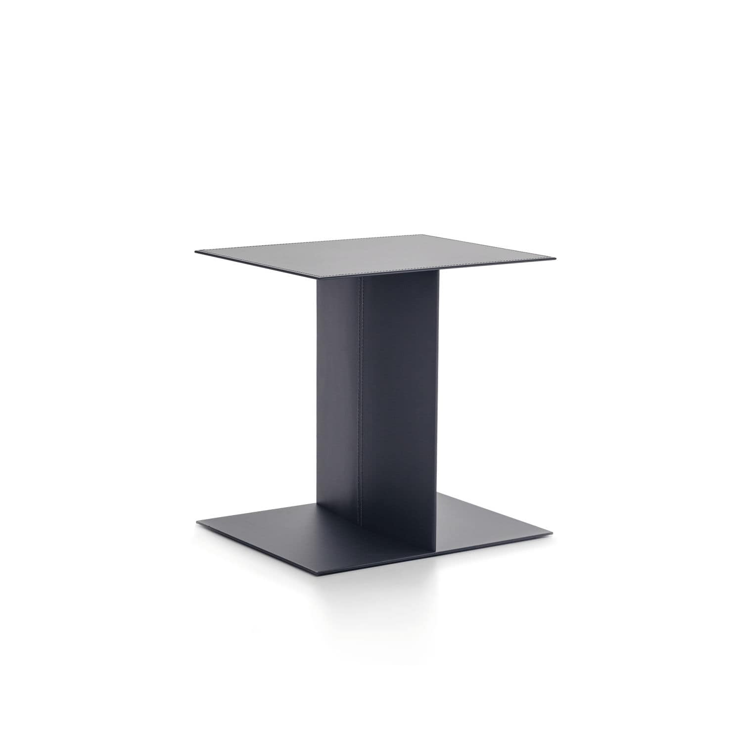 Contemporary Side Table Metal Rectangular Bag By