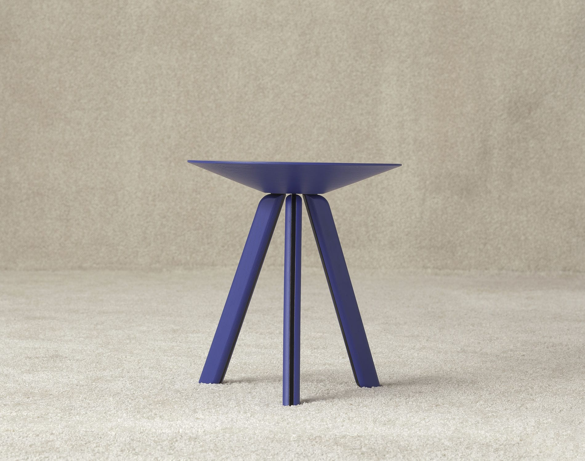 Contemporary Side Table Wooden Round