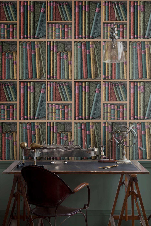 Carta Da Parati Fornasetti Mediterranea contemporary wallpaper - 114/5010 ex libris - cole&son