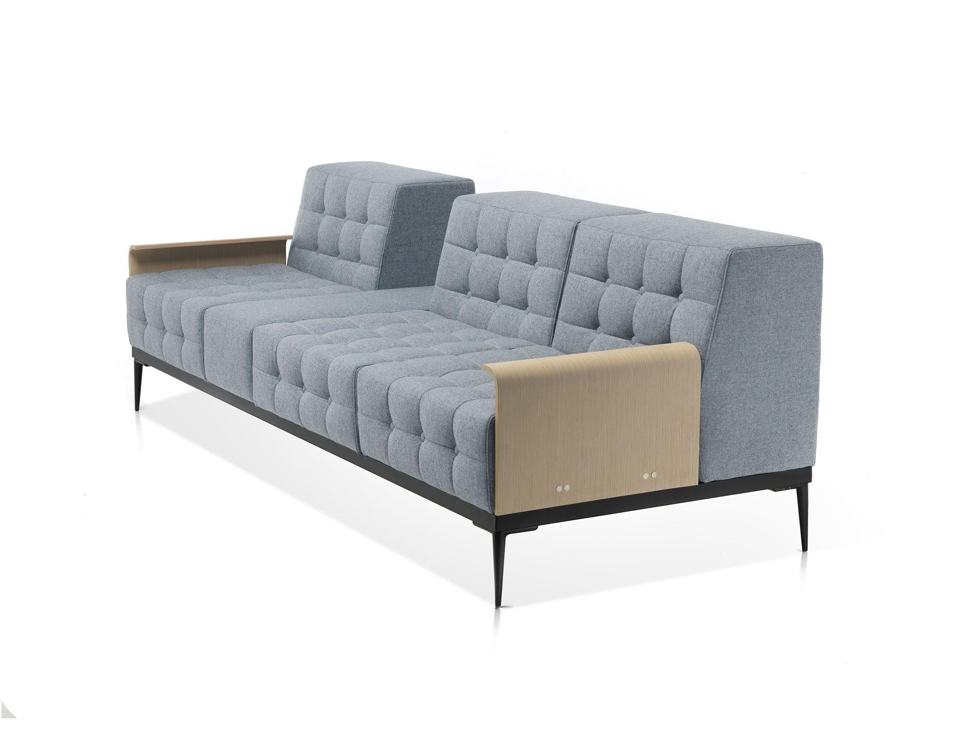 Contemporary sofa / fabric / metal / commercial - FELICITY ...