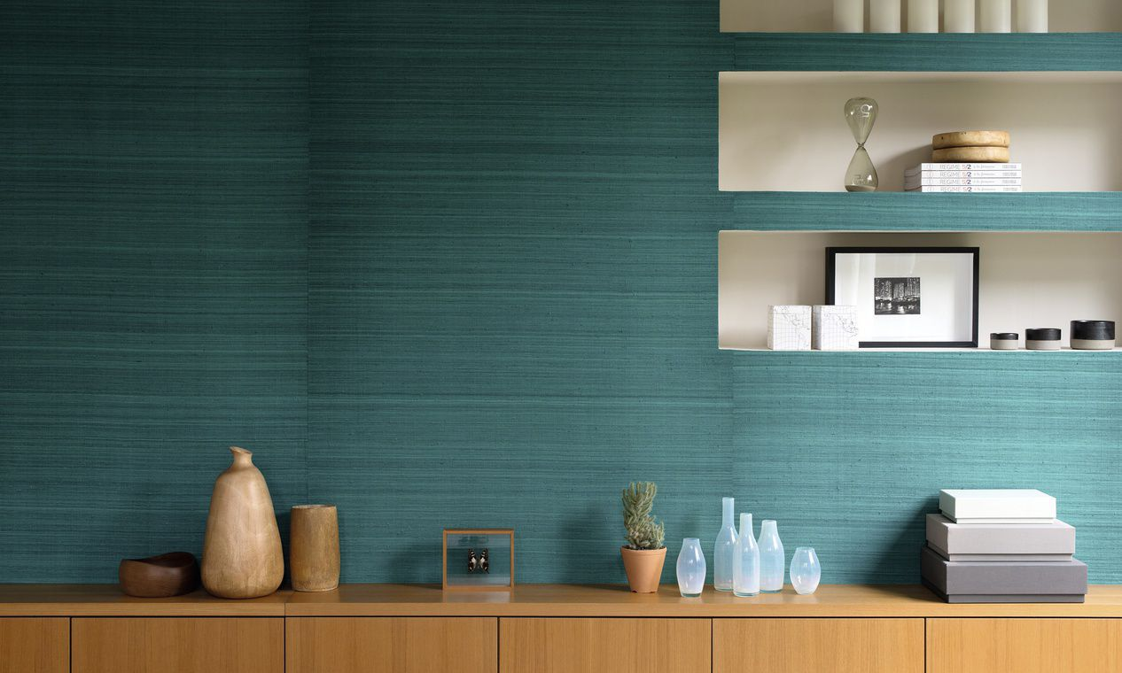 Silk Wallcovering Residential Textured Fabric Look