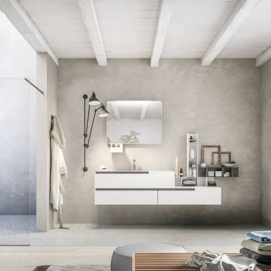 Lavabo Urban.Wall Hung Washbasin Cabinet Wooden Contemporary With