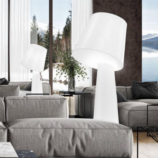 Floor Standing Lamp Contemporary Iron Fabric