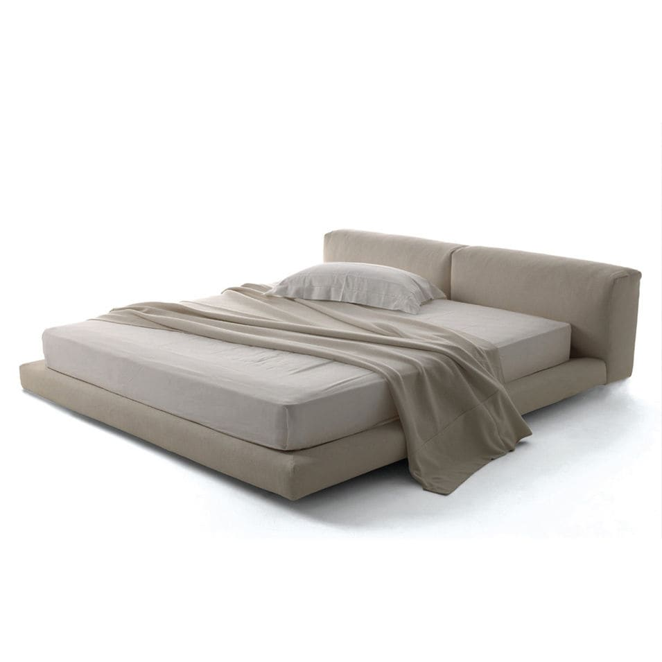 Divano Letto Matrimoniale Moderno.Double Bed Contemporary Upholstered Fabric Softwall