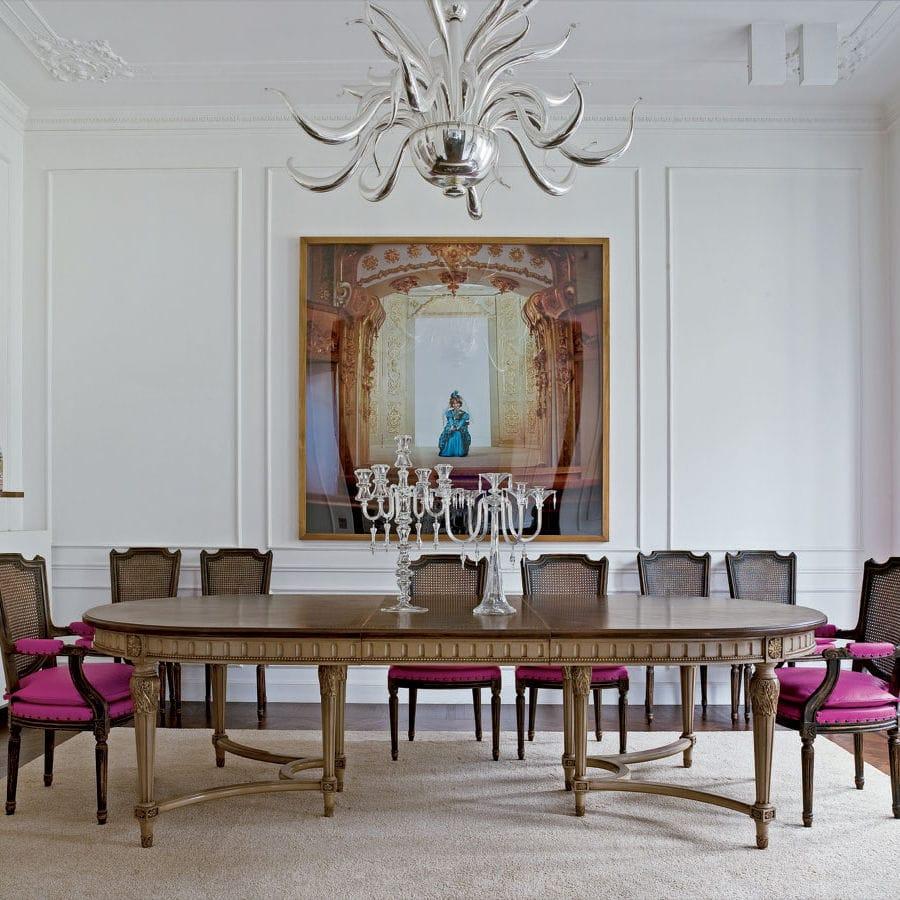 Louis Xvi Style Dining Table Oak Beech Oval Art 8594