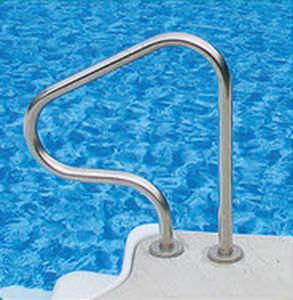 Stainless steel handrail / for swimming pools - Kafko ...
