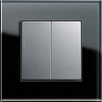 Light Switch Push On Double Thermoplastic Manual Control